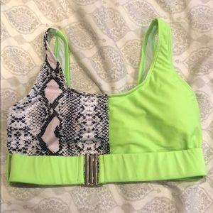 Neon bathing suit top